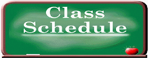 class schedule graphic